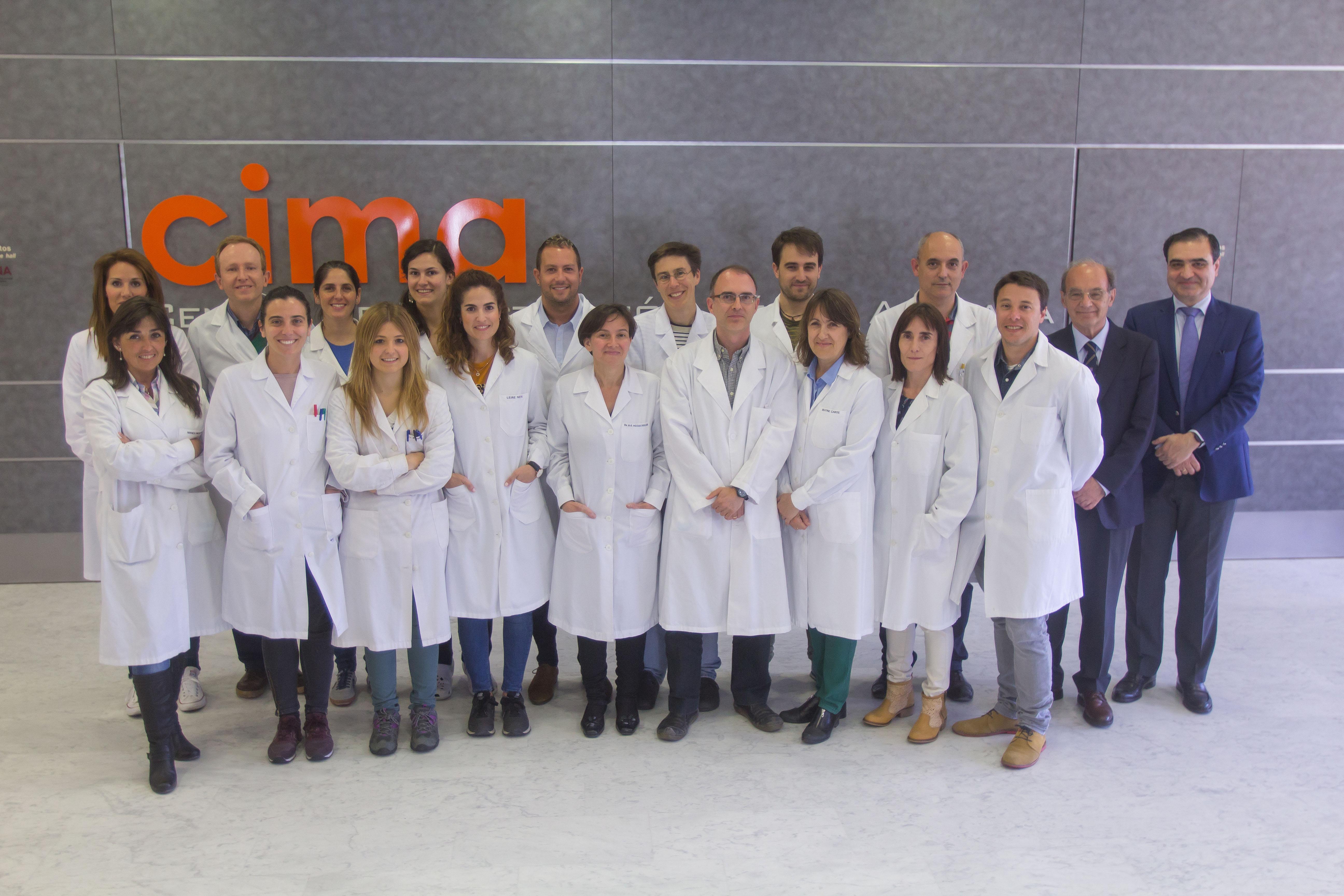 Equipo de investigación del CIMA que desarrolla el prometedor tratamiento contra la enfermedad de Wilson