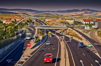 Inicio de la Autovía del Camino en dirección a Estella.