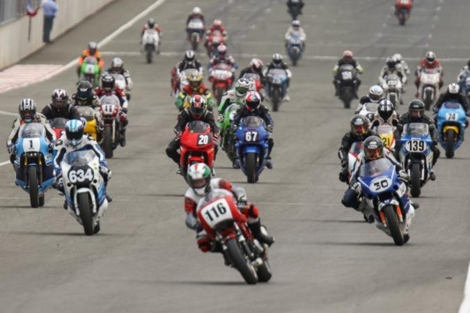 Motos Clásicas en el Circuito de Los Arcos.