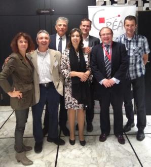 Participantes en la reunión Networking promovida por ANEC con miembros de la Eurorregión Aquitania-Euskadi-Navarra.