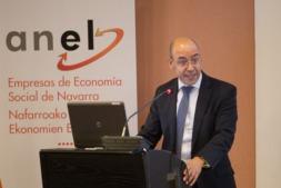 Momento de la intervención de David Cano, director de Analistas Financieros, en la Asamblea ANEL.