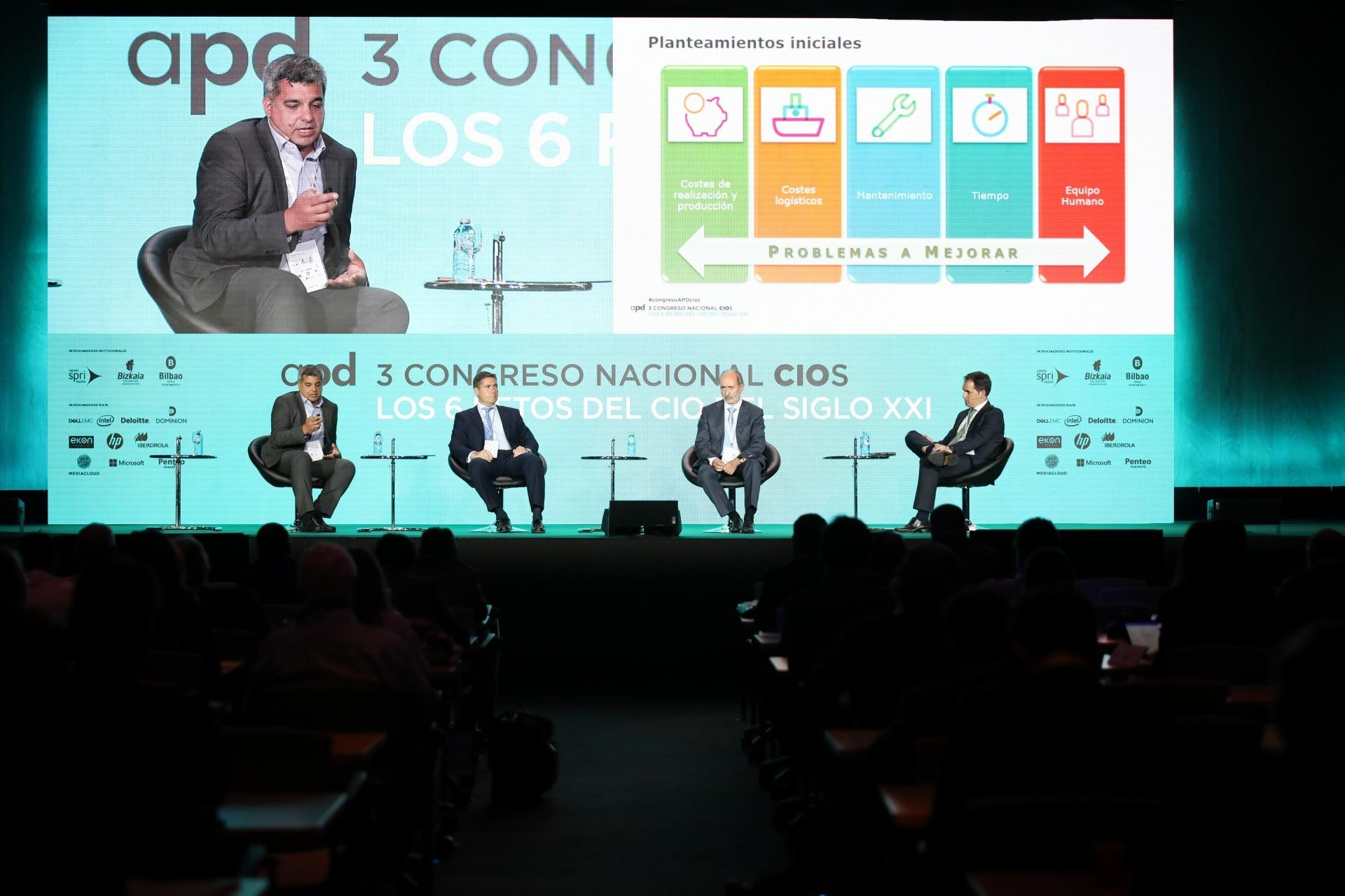Congreso CIOS APD_ panel Banco Santander, Egile Corporation XXI e Iberdrola con Mediacloud