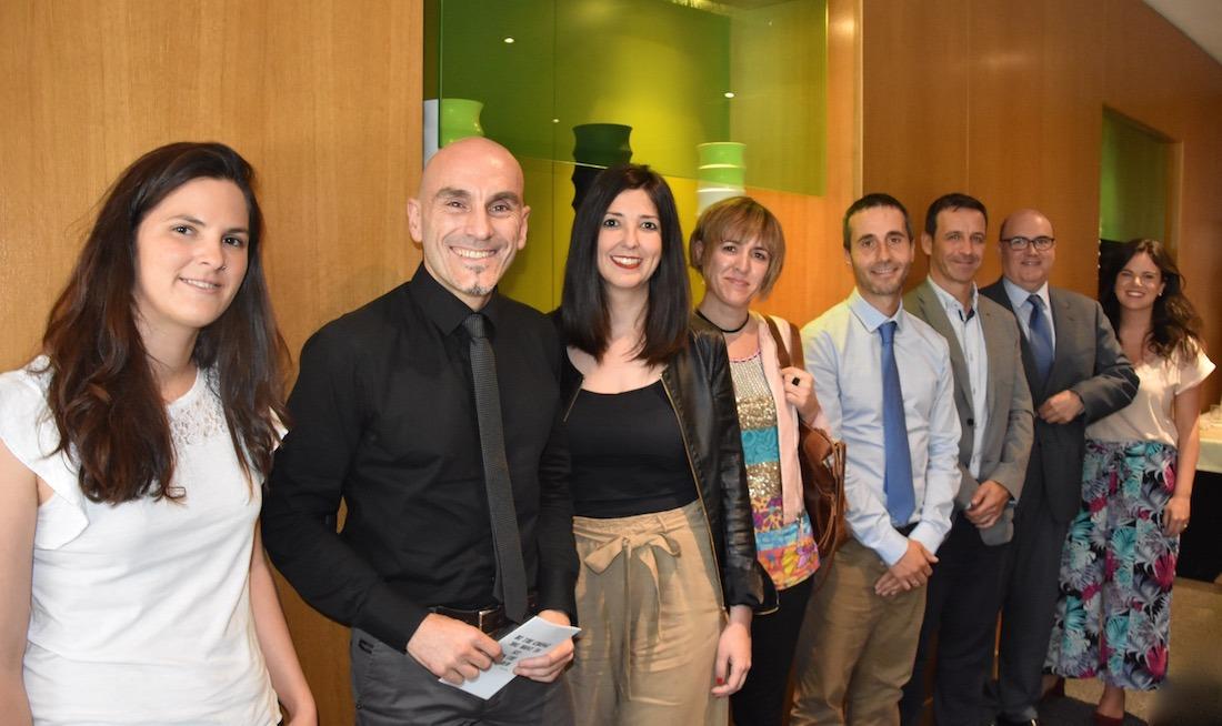 Olaia Mendoza, Álvaro Ochoa, Rebeca Arnedo, María Eugenia Sádaba, Javier Aguirre, Carlos León, Roberto Cortés y Celia Pinedo.