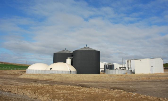 Imagen exterior de las instalaciones de HTN Biogás  en Caparroso