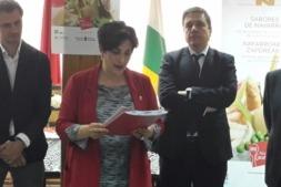 La consejera Solana asistió a la presentación de productos gastronomicos navarros en Logroño