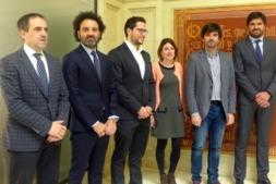 Recepción en el Ayuntamiento de Tudela a los respresentantes de AJE Navarra, Aragón y Soria