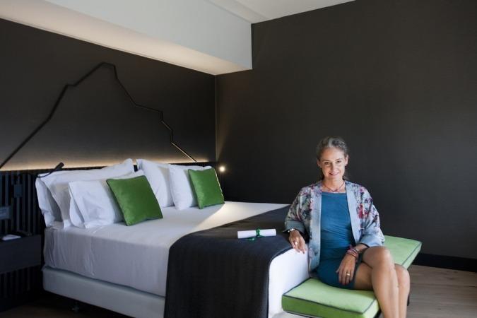 Carla Royo Villanova en la suite Princesa Carla