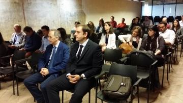 Miguel Díaz, de Plastic Repair System (PRS); Jokin García, de Inspiria Consulting en primera fila