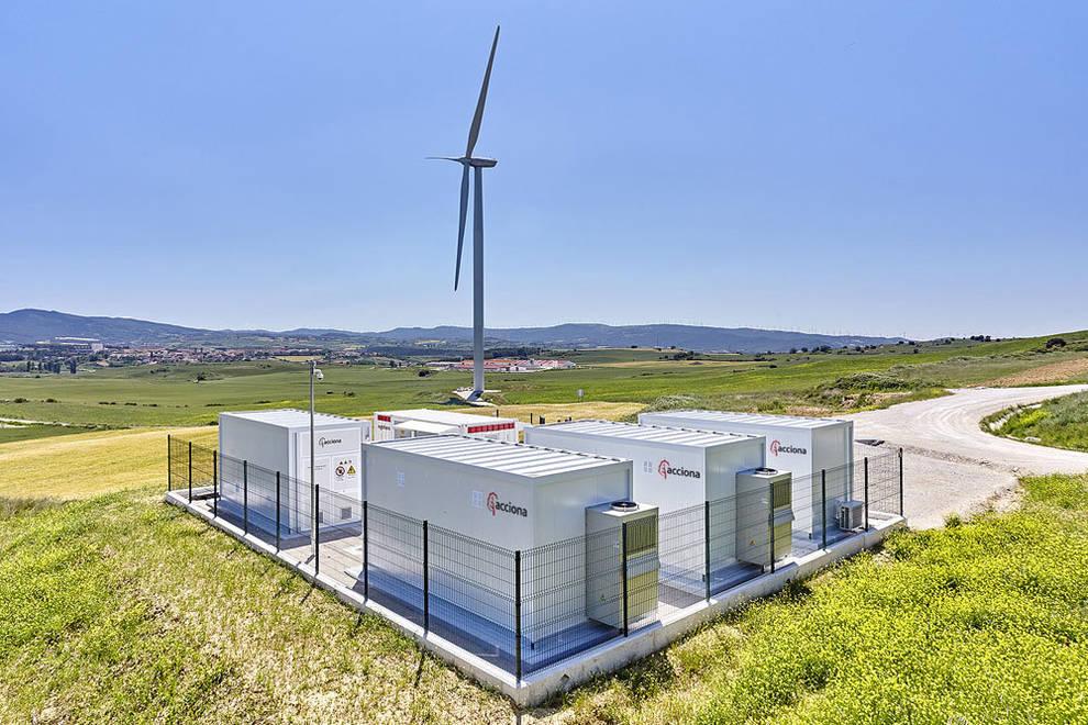 Vista panorámica de la nueva planta eólica de Almacenamiento de ACCIONA en Badostain