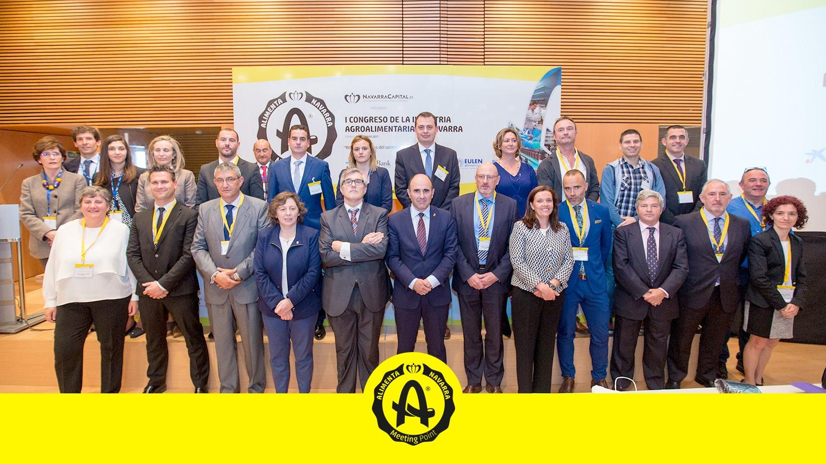 Foto de Famlia del primer congreso de Industria Agroalimentaria de Navarra