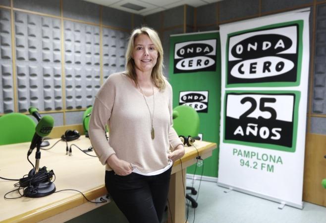 Imagen de la periodista y directora de Onda Cero Navarra, Idoia Altadill (Foto: Miguel Ciriza).