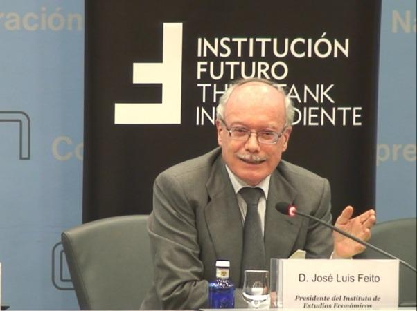 Momento de la intervención de José Luis Feito durante el encuentro de Institución Futuro.