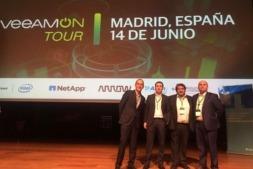 De I a D: Juan Luis Egido, director de Grandes Cuentas de Veeam España; Eneko Ferrero, IT Manager de Antolin y; Jose Antonio Gurucelain y Rafa Laskurain, director de Innovación y CEO de CISTEC technology, respectivamente.
