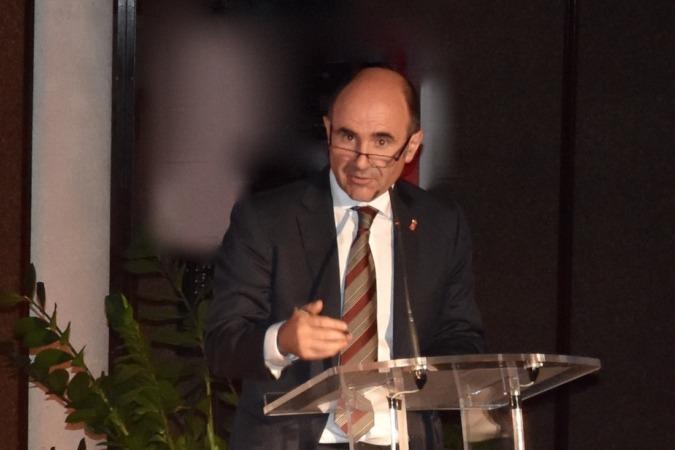 Manu Ayerdi, vicepresidente de Desarrollo Económico, durante una ponencia en AIN.