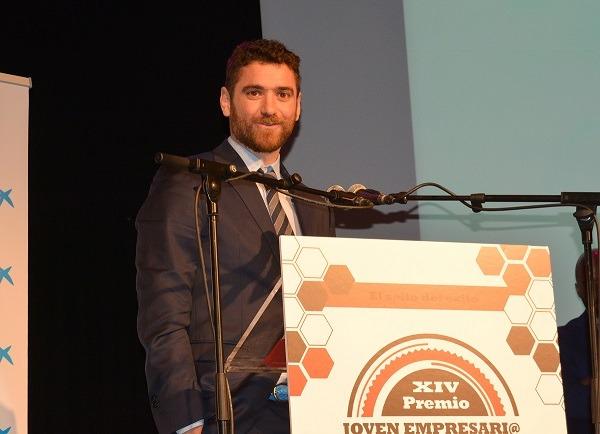 Ciro Larrañeta, premio Joven Empresario 2016. Foto: Miguel Suárez (Imagen Navarra).