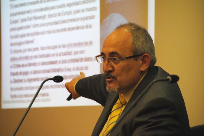 El teniente coronel Luis Hernández, jefe del Área técnica de la Unidad de Ciberseguridad de la Guardia Civil.