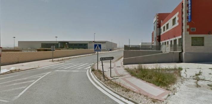 Entrada al polígono El Mallatón de Cárcar, futura sede del nuevo centro productivo de Aceitunas Sarasa. (imagen: Google Maps).
