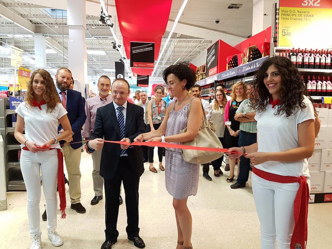 Inauguración de la campaña de Carrefour a favor del producto navarro.