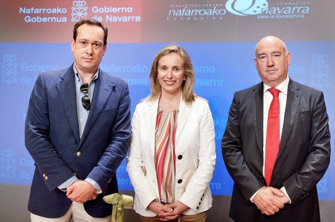 Enrique García-Mina, Izaskun Goñi y Marino Barasoain.