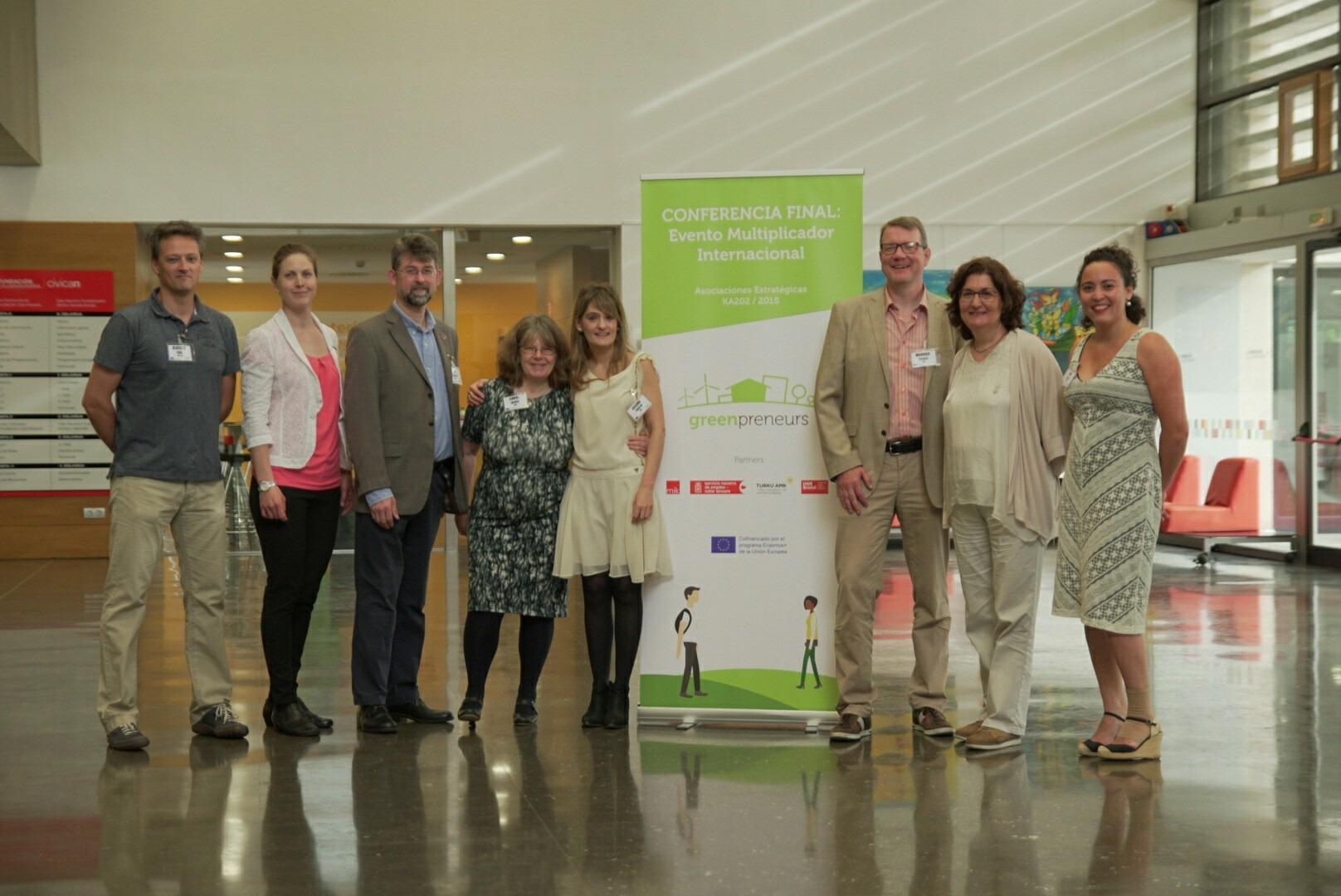Asistentes a la jornada de clausura del proyecto Greenpreneurs.