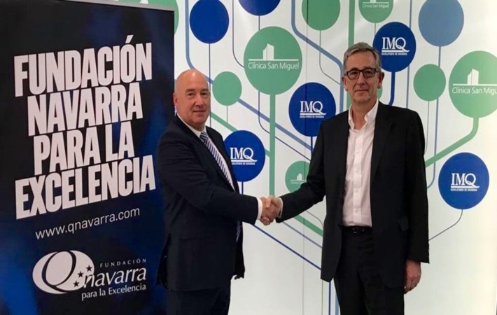Marino Barasoain y José María Bariain.