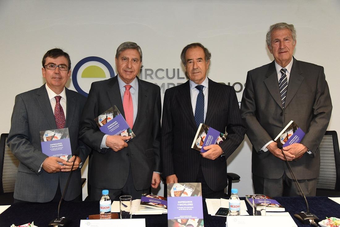 José Luis García Delgado, Juan Carlos Jiménez y Manuel Martín Rodríguez,
