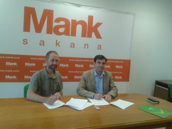 Aitor Karasatorre, presidente de la Agencia de Desarrollo de Sakana e Ignacio Ugalde, presidente de ANEL.