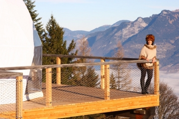 Iglú de lujo en los Alpes suizos
