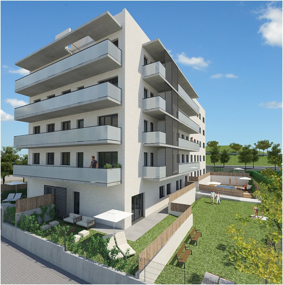 Recreación de uno de los espacios que ACR Grupo piensa desarrollar en Can Bellet (Barcelona).