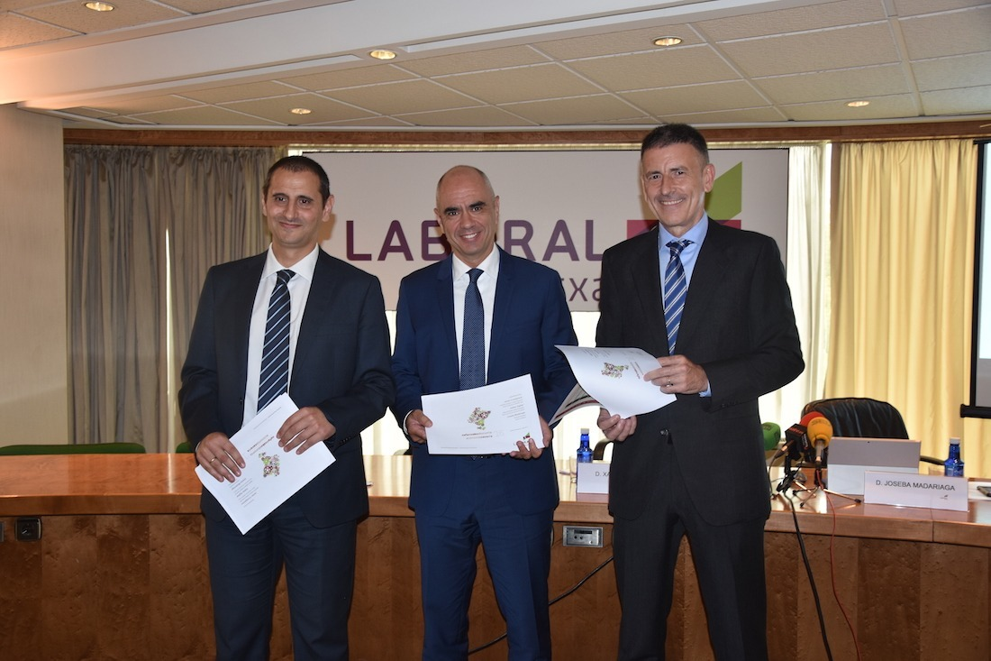Javier Cortajarena, Xabier Egibar y Joseba Madariaga.
