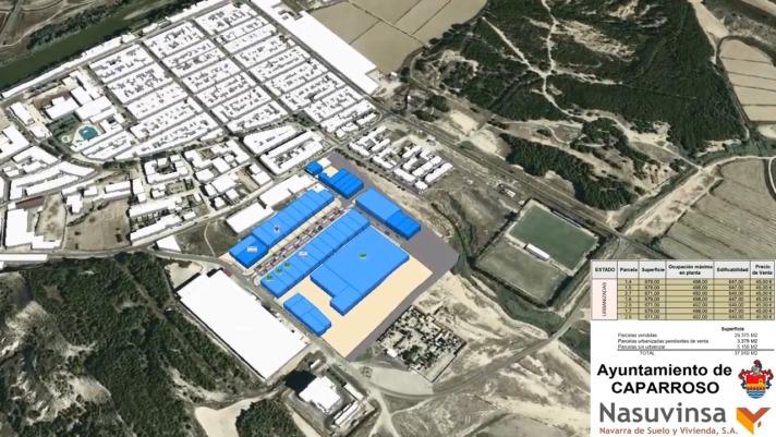 Plano del recién estrenado segundo polígono industrial de Caparroso (Nasuvinsa)