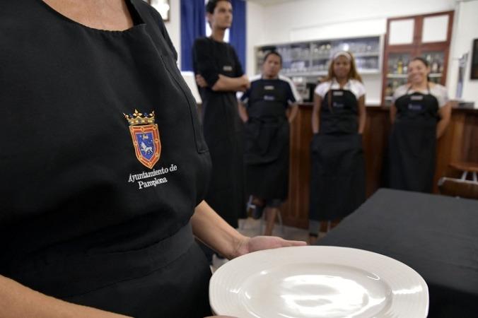 Detalle de uno de los últimos cursos para emprendedores impulsado desde el Ayuntamiento de Pamplona.