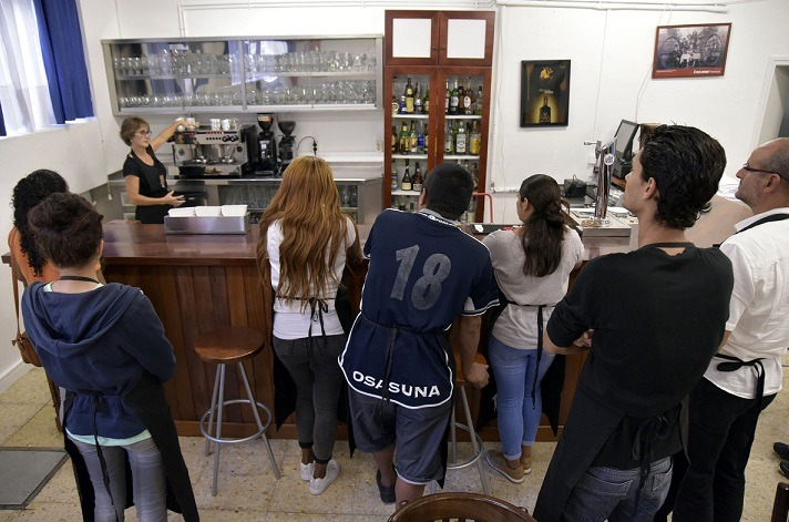 Imagen de archivo de un curso de Formación para el empleo organizado por el Ayuntamiento de Pamplona.