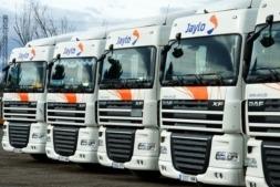 Imagen de parte de la flota de camiones de Trans Jaylo.