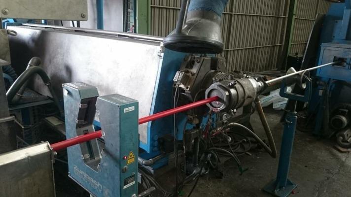 Fabricación de cable en las instalaciones que 'Calbete' tiene en Egüés.