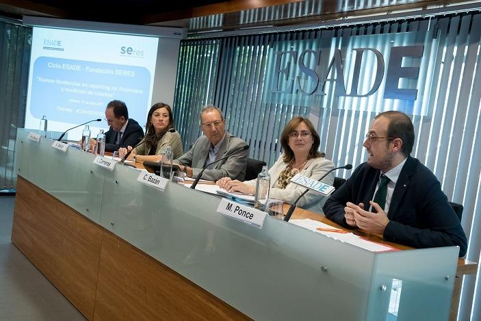 Imagen del encuentro sobre 'reporting no financiero' celebrado en ESADE Madrid.