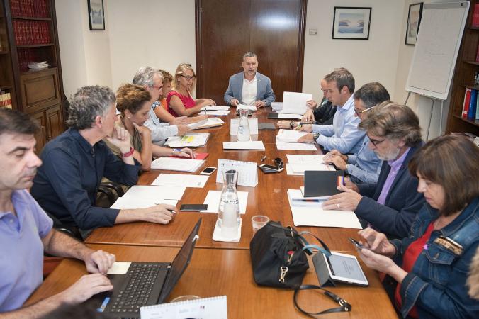 Imagen de la reunión sobre políticas activas de empleo.