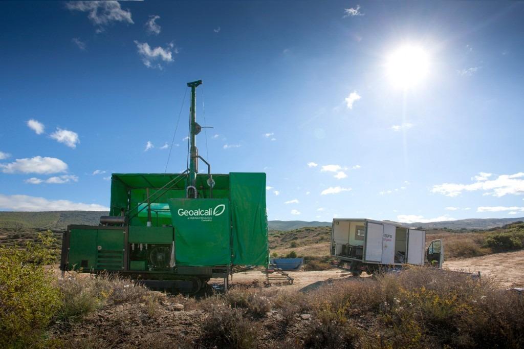 Imagen de los primeros trabajos de Geoalcali para desarrollar su proyecto de Mina de Potasa en Cinco Villas y Sangüesa (cedida).