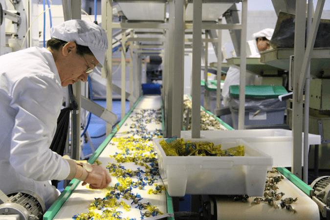 Imagen de la línea de producción de Caramelos El Caserío de Tafalla