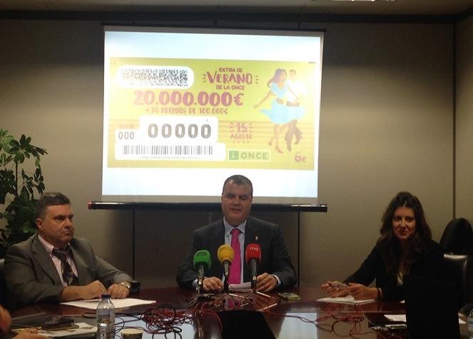 Presentación de los resultados obtenidos por la ONCE en Navarra el pasado año 2016.