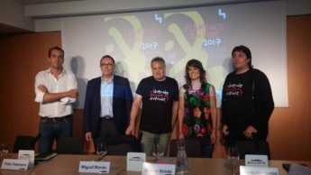 Javier Lacunza, Félix Palomero, Miguel Morán, Maider Beloki y Ricardo Hernández