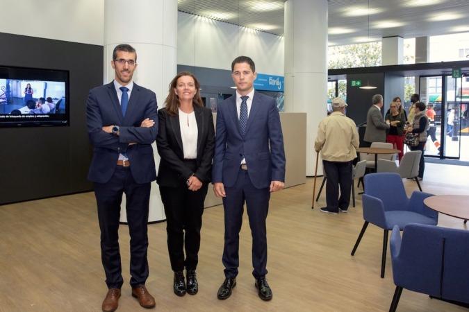 David González, Ana Díez e Iñaki Morrás.