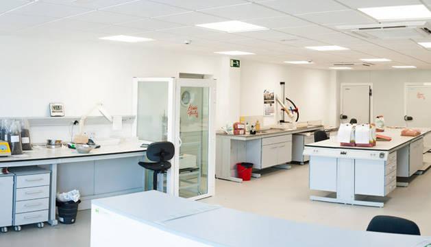 Vista del nuevo laboratorio de Semillas LG, en Elorz, para ampliar su oferta en cereales, maíz, girasol y colza.