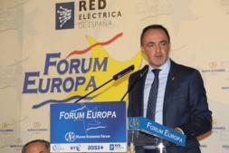 Un momento de la intervención de Javier Esparza (UPN) hoy en Madrid.