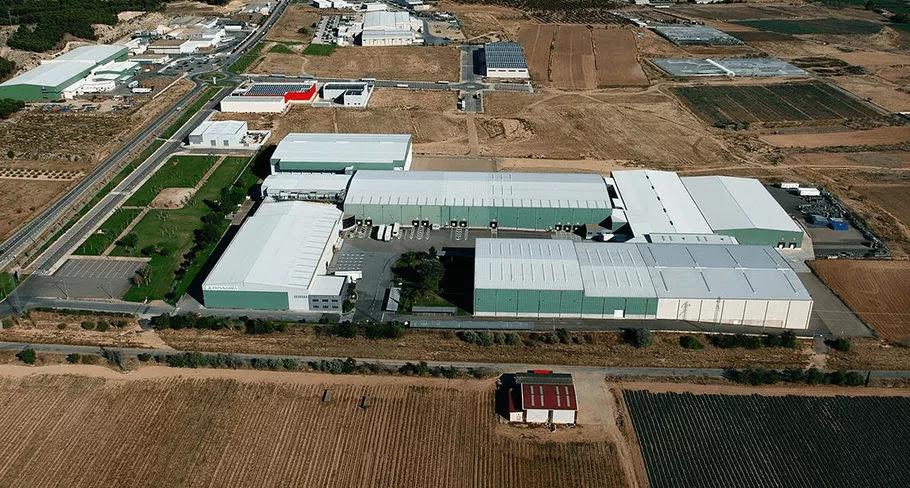 Vista panorámica de las instalaciones de Frinavarra en Milagro.