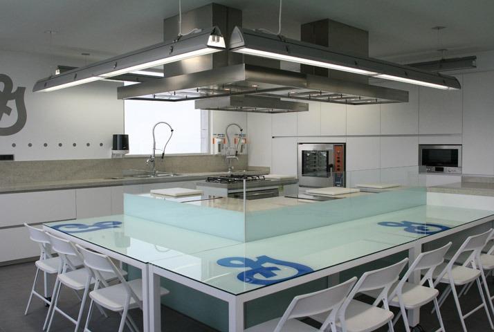 Interior de la factoría de General Mills en San Adrián. Zona de prueba de producto.