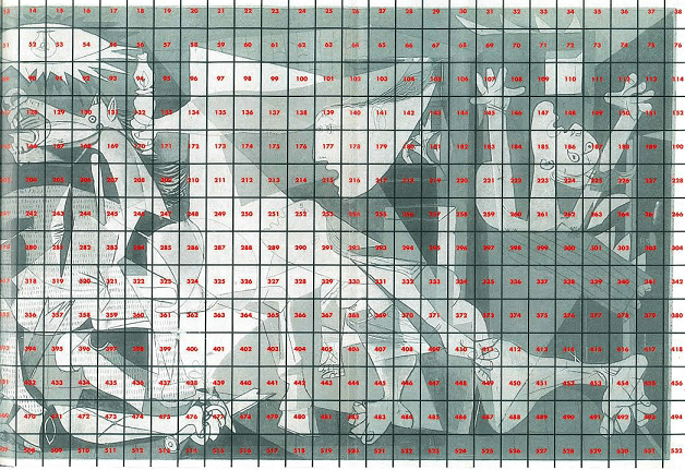Lienzo para el proyecto Guernica sobre la paz