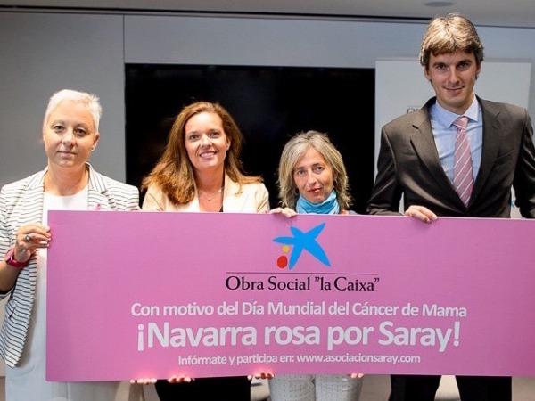 De izquierda a derecha, Yaki Hernández (Saray), Ana Díez Fontana (Caixabank), Ana Sarasa (Saray) y Rubén Santamaría (Caixabank).