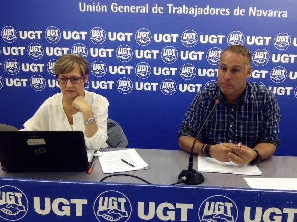 Ana Fernández y Gorka Martínez, durante la rueda de prensa.