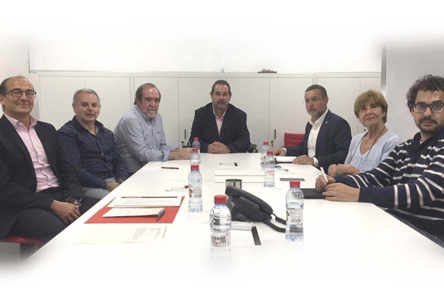 Javier Fernández, Jesús Muruzabal, José Vicente Urabayen, Javier Miranda, Miguel Laparra, Camino Oslé y Txema Mauleón.